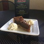 CorkScrew Bar & Grille Bourban Pecan pie and dessert card